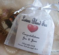 tea favors are fast becoming one of the hottest party favors at wedding receptions baby showers bridal showers and many other